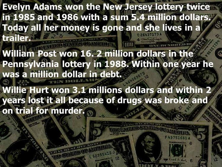 Image result for Evelyn Adams won the New Jersey Lottery twice