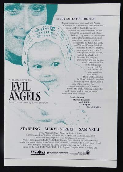 Evil Angels (film) EVIL ANGELS aka CRY IN THE DARK 88 Meryl Streep Sam Neill SCHEPISI