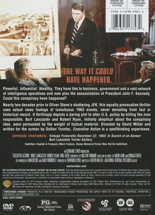 Executive Action (film) DVPs JFK ARCHIVES MOVIEDVD REVIEW EXECUTIVE ACTION 1973