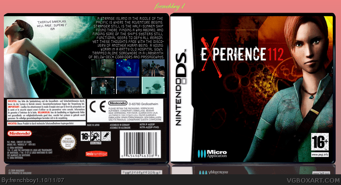EXperience112 Experience 112 Nintendo DS Box Art Cover by frenchboy1