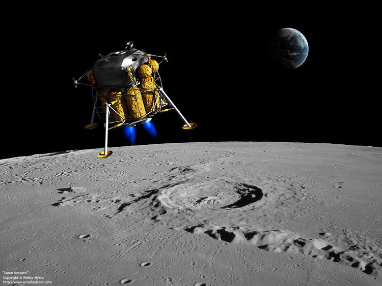 Exploration of the Moon Space Exploration Lunar descent 1280x960