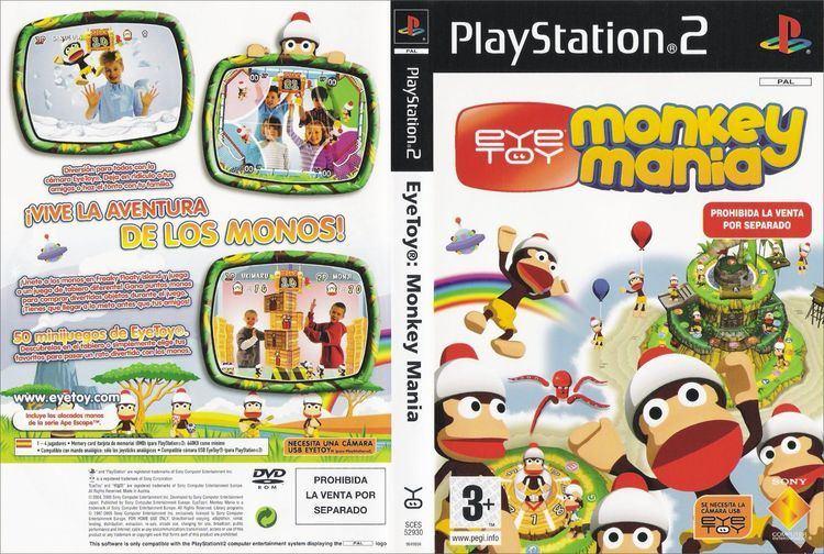 EyeToy: Monkey Mania Cartula de Eye Toy Monkey Mania para PS2 CARATULASCOM