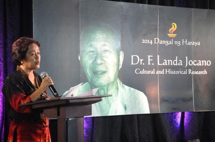 F. Landa Jocano drjocanonccaawardjpg
