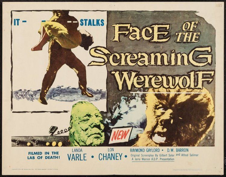Face of the Screaming Werewolf Look Upon the Face of the Screaming Werewolf 1964 The