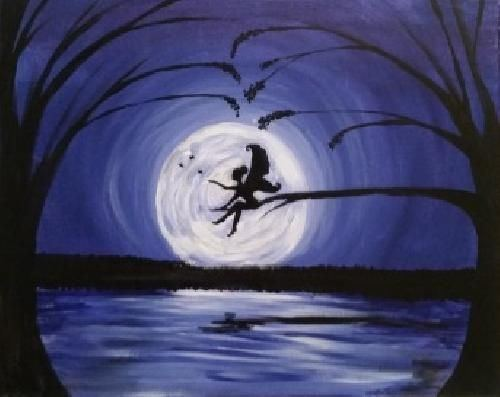 Fairy painting Paint Nite Pittsburgh Fairy Dust Moonlight at the Fox and Hound
