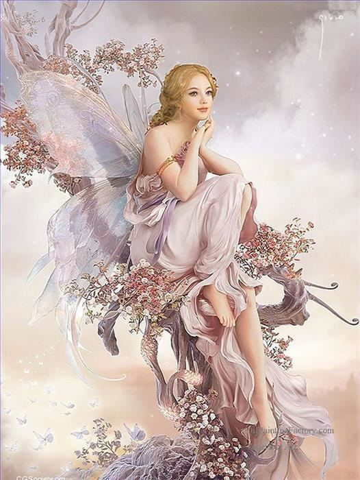 Fairy painting Oil Paintings of 7sd058cD modern wholesale fairy Art for sale by Artists