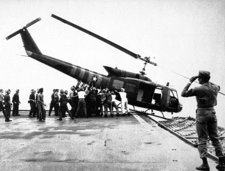 Fall of Saigon The frantic evacuation of Saigon as captured by CBS News in 1975