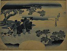 Fan print with two bugaku dancers httpsuploadwikimediaorgwikipediacommonsthu