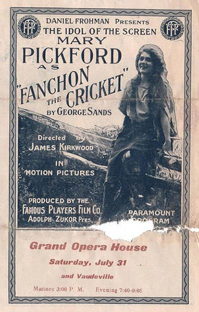 Fanchon the Cricket Fanchon the Cricket 1915 Mary Pickford Foundation