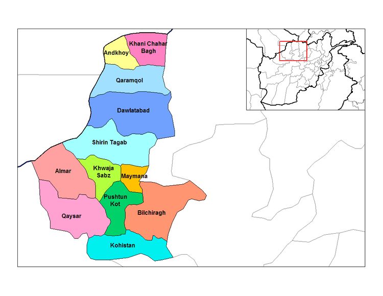 Faryab Province in the past, History of Faryab Province