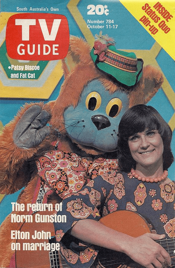 Fat Cat and Friends Patsy Biscoe and Fat Cat on Channel 10 Adelaide Remember When
