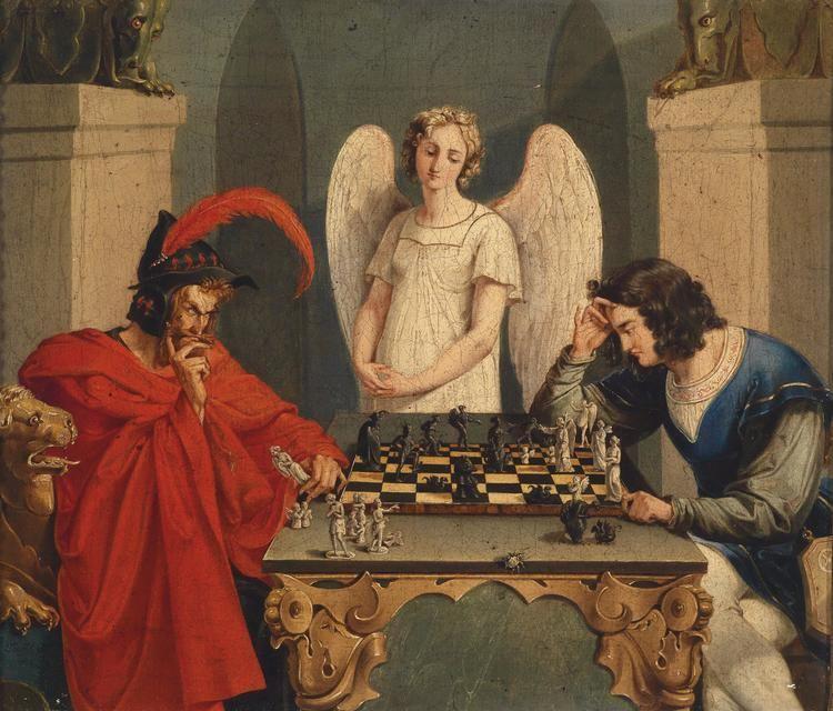 Faust FileFaust und Mephisto beim Schachspiel 19Jhjpg Wikimedia Commons