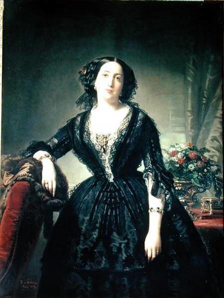 Federico de Madrazo Portrait of Maria Dolores Aldama Marque Federico de
