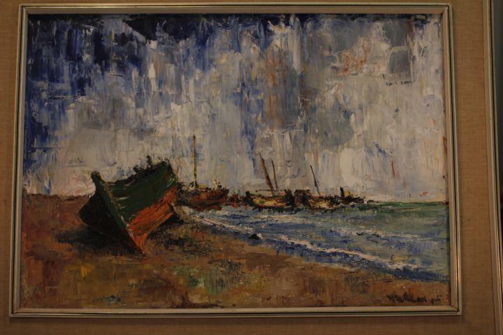 Felice Pazner Malkin Felice Pazner Malkin Harbor Original Jewish Art Paintings