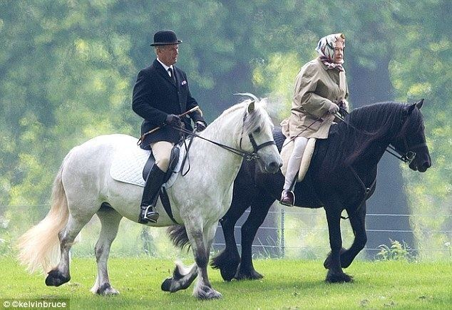 Fell pony The Queen rides out on her Fell pony in Windsor Great Park Daily
