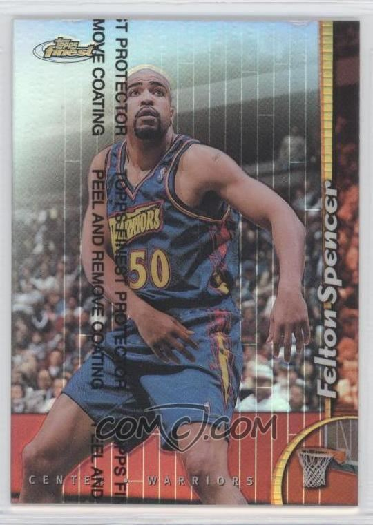 Felton Spencer 199899 Topps Finest Refractor 144 Felton Spencer