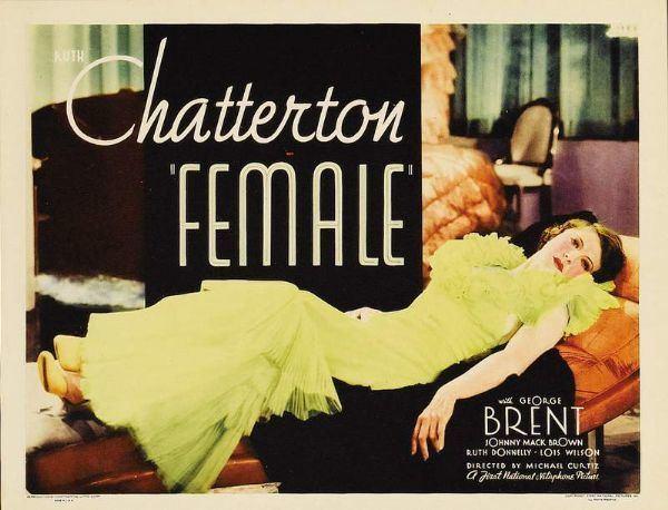 Female (1933 film) Female 1933 movie poster Kennelco Film Diary Kennelco Film Diary