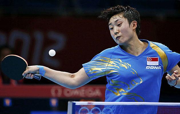 Feng Tianwei MHTableTennis Feng Tianwei Dominates Bronze Match