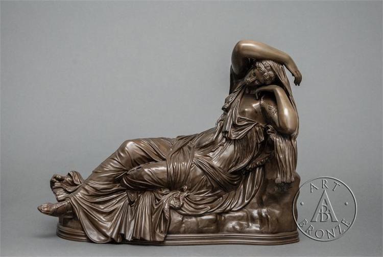 Ferdinand Barbedienne A fine 19th century Barbedienne bronze of Sleeping Ariadne