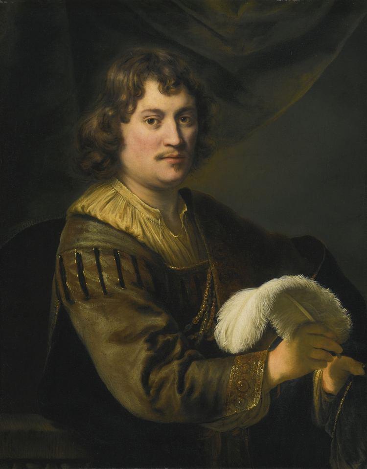 Ferdinand Bol EPPH Bol39s Portrait of a Man Holding a White Plume 1648