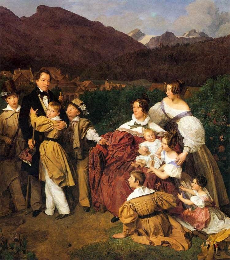 Ferdinand Georg Waldmüller The Eltz Family 1835 Ferdinand Georg Waldmller WikiArtorg