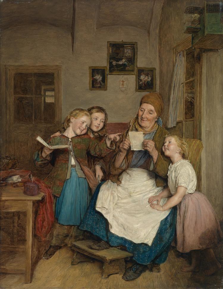 Ferdinand Georg Waldmüller FileFerdinand Georg Waldmller Gromutter mit drei Enkelkindern