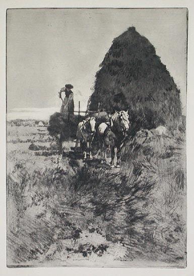 Ferdinand Schmutzer Schmutzer The Hay Stack