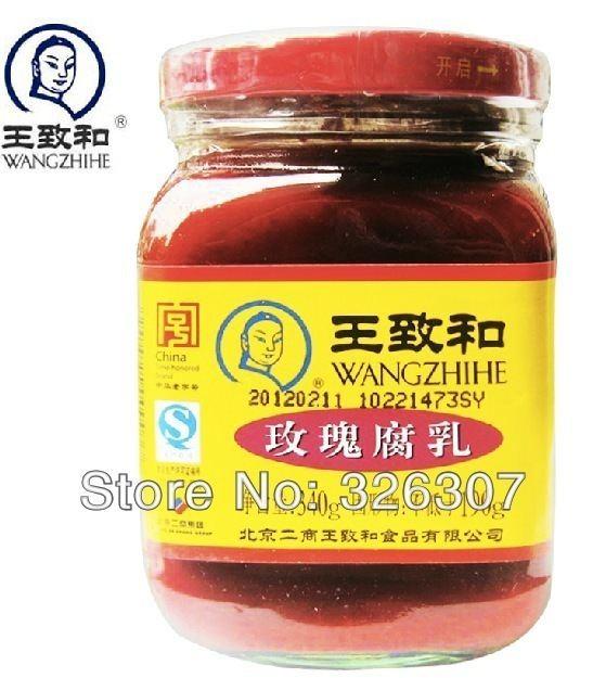 Fermented bean curd WANGZHIHE Beijing specialties bean curd and rose 340 g bottle