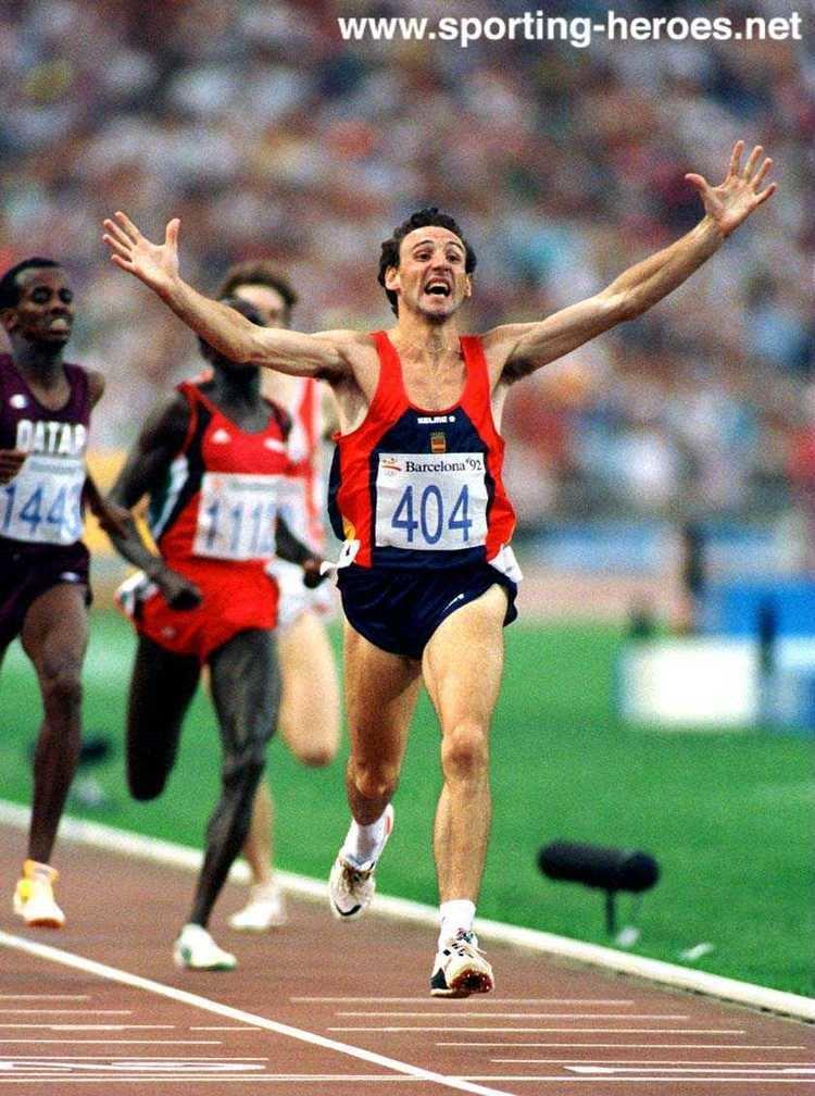 Fermín Cacho Fermn Cacho en los juegos olmpicos de Barcelona 92 Medalla de oro