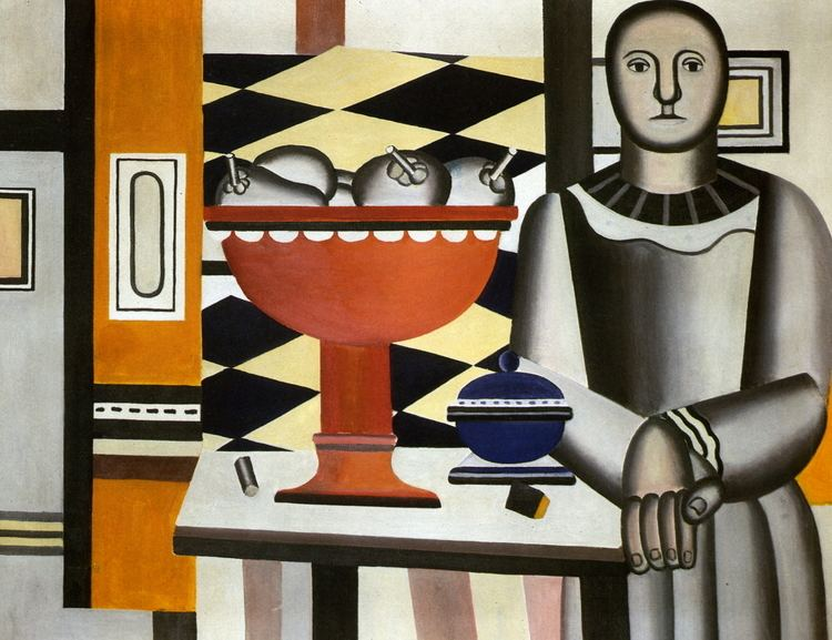 Fernand Leger The Woman with the fruit dish Fernand Leger WikiArtorg