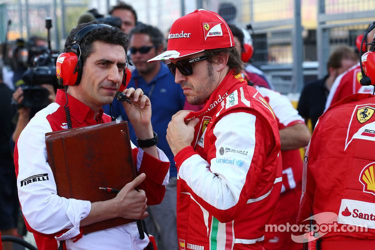 Fernando Alonso (engineer) Fernando Alonso Ferrari with Andrea Stella Ferrari Race Engineer