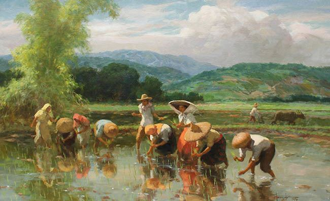 Fernando Amorsolo Examples of the Artists Work We Buy and Sell Fernando Amorsolo
