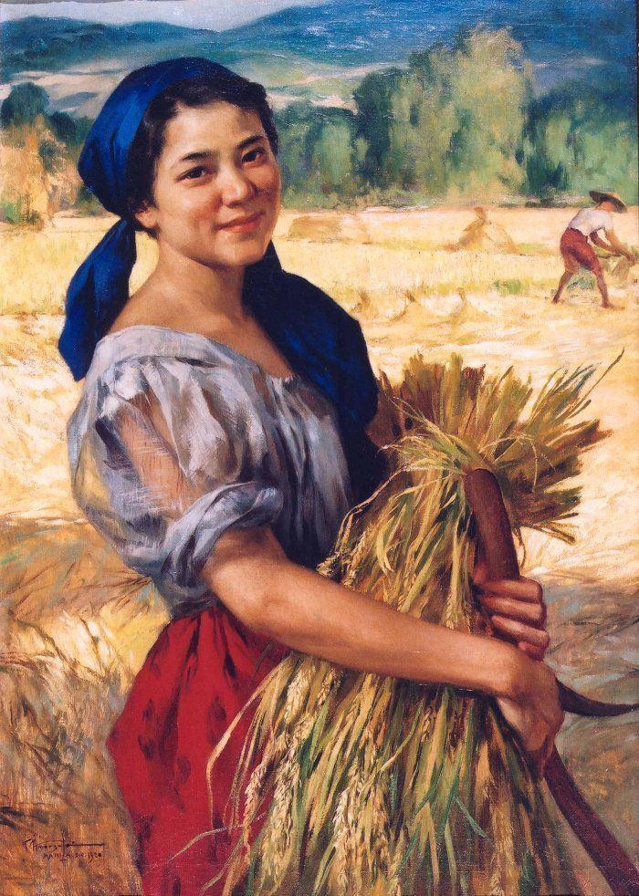 The Palay Maiden by Fernando Amorsolo