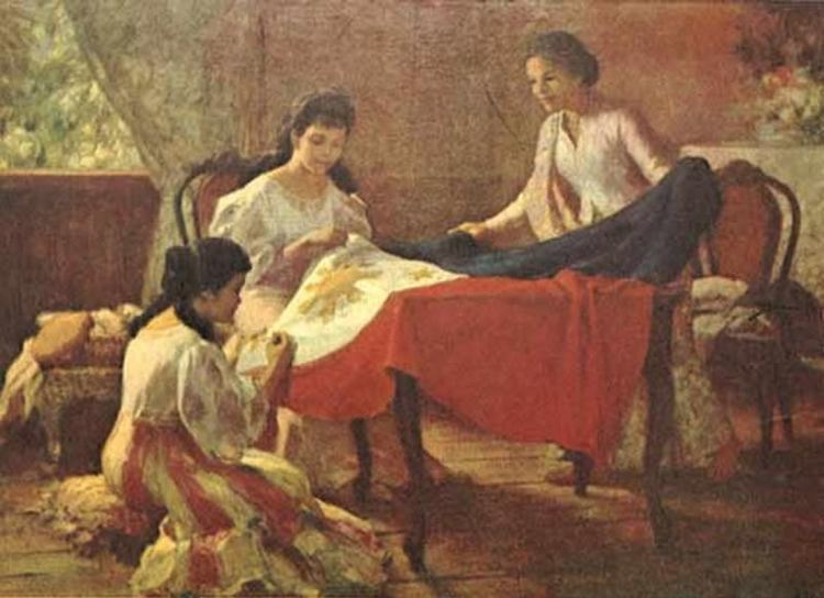 The making of the Philippine Flag by Fernando Amorsolo