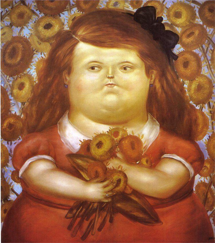 Fernando Botero Woman with Flowers Fernando Botero WikiArtorg