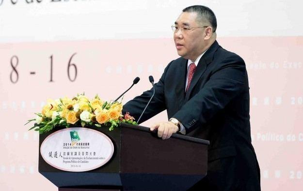 Fernando Chui GGRAsia Chui Sai On reelected for Macau39s top political