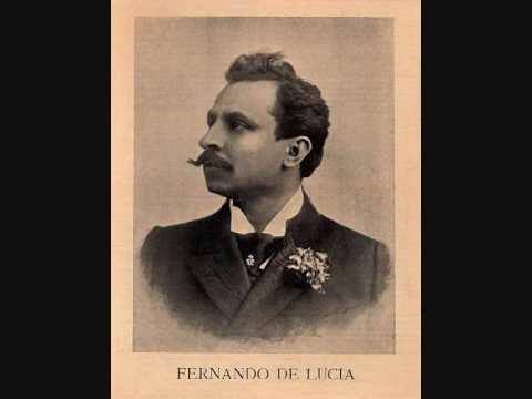 Fernando De Lucia Tenore FERNANDO DE LUCIA La Sonnambula quot Ah perch non