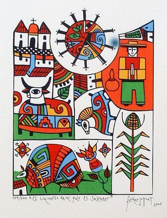 Fernando Llort pintura salvadorea Fernando LLort ARTE Pinterest