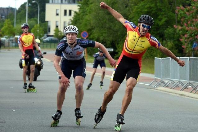 Ferre Spruyt Belgische marathontitels skeeleren voor Ferre Spruyt en Sand