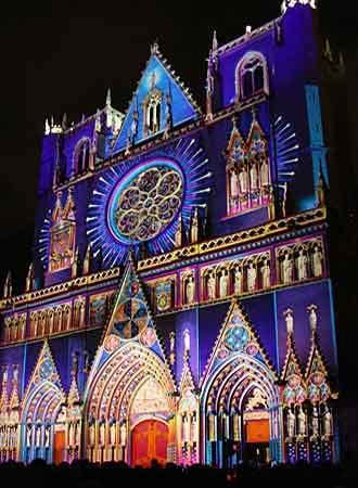 Festival of Lights (Lyon) Beautiful colours on Festival of Lights Lyon 8 11 December 2016