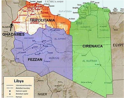 Fezzan FezzanGhadames French Occupation 1943 1949 Dead Country