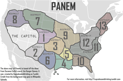 Fictional universe of The Hunger Games - Alchetron, the free ... on panama map hunger games, map of district of columbia, map of all indian tribes, map of panem, district 13 hunger games, map of africa,