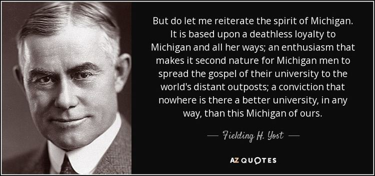 Fielding H. Yost TOP 5 QUOTES BY FIELDING H YOST AZ Quotes
