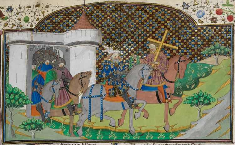 Fierabras FileCharlemagne and Fierabras with the relics British Library