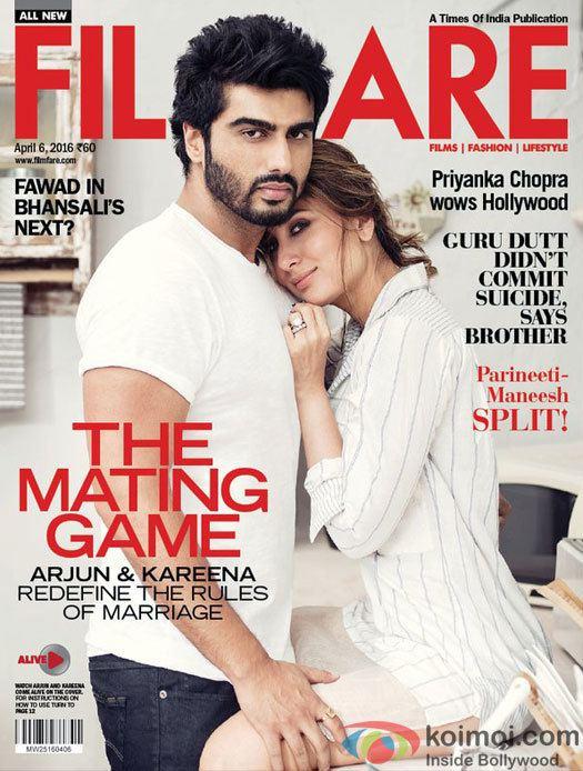 Filmfare Kareena And Arjun Shining On The Filmfare Cover Page Koimoi