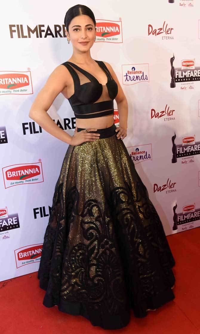 Filmfare Awards PIX Haasans Dhanush Shriya at 62nd South Filmfare awards Rediff