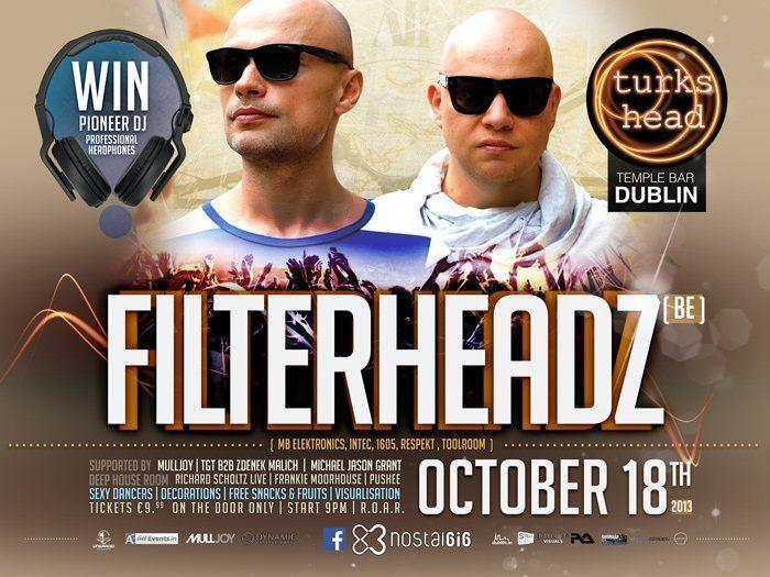 Filterheadz RA Nostalgig Party with Filterheadz at Turks Head Ireland 2013