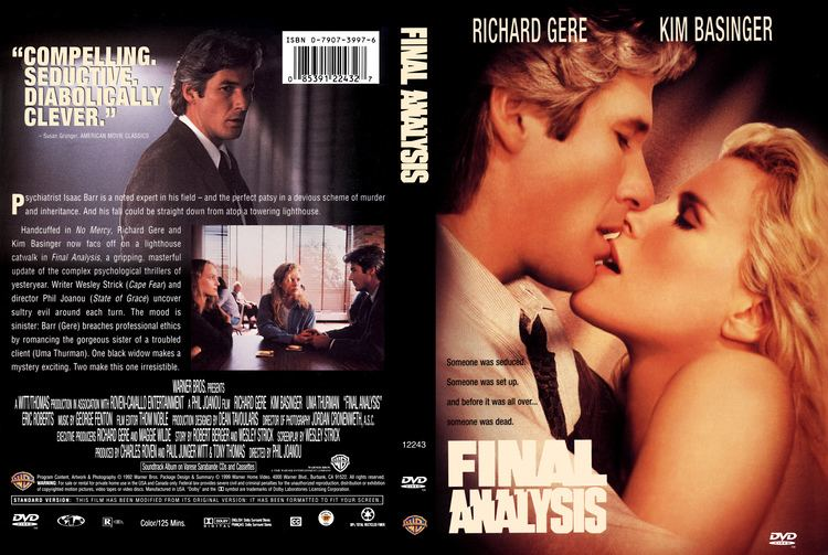 Final Analysis Final Analysis 1992 DVD Like NEW Richard GereKim Bassinger