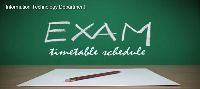 Final examination 2nd Semester Final Examination Timetable Shinas College of Technology