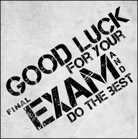 Final examination Best Luck for Final Exam Education And Career Pinterest The o